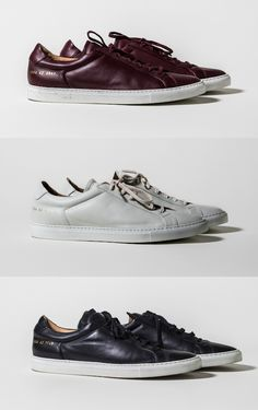 Common Projects Achilles Low Sneakers - Red, white and burgundy