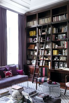 The elegant Brussels Townhouse of French and Mexican furniture designers Anne-Marie Midy and Jorge Almada of Casamidy.