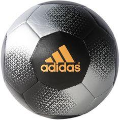 Adidas Performance Ace Glider Soccer Ball, Silver Metallic/Black/Solar Gold