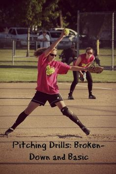 Girls Fastpitch Pitching Drills- How To Teach Her To Pitch Softball Crafts, Softball Shirts, Softball Players, Girls Softball, Softball Stuff, Softball Cheers, Softball Hair, Softball Pitching Drills, Softball Workouts