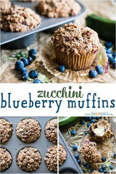 You Have Meals Poisoning More Normally Than You're Thinking That Fresh From The Garden Zucchini Blueberry Muffins With Stresel Topping, Made Extra Moist With Olive Oil And Sour Cream, Are So Incredibly Delicious Muffin Recipes, Baking Recipes, Real Food Recipes, Breakfast Recipes, Dessert Recipes, Breakfast Ideas, Baby Recipes, Sweet Breakfast, Breakfast Cake