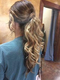 Dressy ponytails