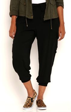 Deb Shops Plus Size Lightweight Woven Cargo Jogger Pants with Tie Waist $18.75