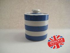 No1. of 500 Things. A delightful Cornishware jam or preserve jar. Est value about £15. This range is a revival collection which was manufactured in the late 80's to about 1995. As with all the piece in the 500 Things collection is is only £10. I will be putting it in my Etsy shop at the end of this evening. If you would like it then message me below first come first served. Please note that there will be an additional charge for P&P.