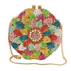 PU Floral Bohemian Crystal Evening Purse  #evening #clutch #bags #bag #shopping #crossbodybag #eveningbag #weddings #fashionista #styleblog