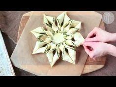 Stella di pasta sfoglia alla ricotta e pesto - videoricetta antipasti facili e veloci - YouTube