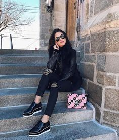 Casual Outfits, Cute Outfits, Fashion Outfits, Womens Fashion, All Black Outfit Casual, Moda Fashion, Fall Winter Outfits, Autumn Winter Fashion, Brogues Outfit