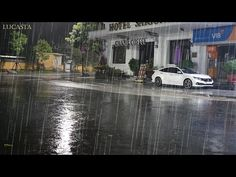 Sleeping Rain with Heavy Thunderstorm Sounds on Street - Live Rain Sounds for Deep Sleep, Relaxing - YouTube Rain Sounds, Sound Of Rain, Thunderstorm Sounds, Thunderstorms, Live Rain, Relax, Sleep, Youtube, Lightning Storms