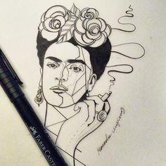 Afbeeldingsresultaat voor frida kahlo tattoo