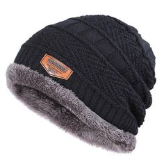 Winter beanies for men Brand Knit Beanie Hat Scarf Plus Velvet Thicken Winter  Hats Woman Warm Soft Cap Skullies Bone Male Cotton 41b282704574