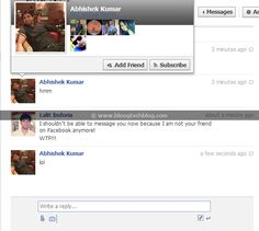 Facebook Messages Privacy Bug