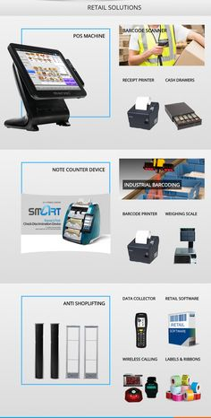 Telecommunication Systems, Lifting Devices, Retail Solutions, Weighing Scale, Digital Signage, Kiosk, Printer, Digital Signature, Scale