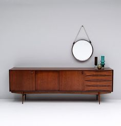 PAOLA SIDEBOARD BY OSWALD VERMAERCKE V-FORM 1950S
