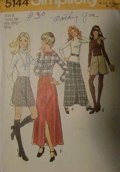 1972 Simplicity Pattern No. 5144 Misses' Set of by EJVintageAvenue, $5.00