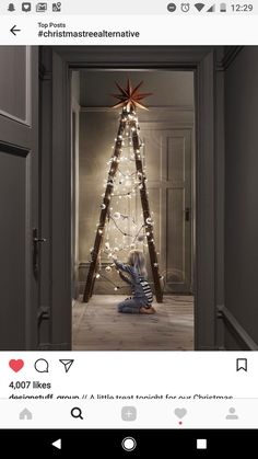 Not your ordinary For more creative alternative Christmas tree ideas, our fresh. - Happy Christmas - Noel 2020 ideas-Happy New Year-Christmas Nordic Christmas, Noel Christmas, Modern Christmas, Rustic Christmas, Simple Christmas, Christmas Ideas, Funny Christmas, Beautiful Christmas, Minimalist Christmas Tree