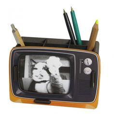 """Werkhaus Shop - Stiftebox """"Fernseher"""" - orange"""
