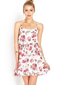 Floral Fever Chiffon Dress | Forever 21 - 2000105756