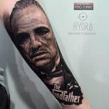 MOB Tattoo 15 Mob Tattoo, Tattoo You, Al Pacino, Hand Tattoos, Sleeve Tattoos, Montana Tattoo, The Godfather Wallpaper, The Godfather Part Iii, Godfather Tattoo