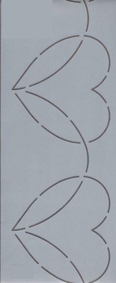 """Dancing Heart Border 4"""" - The Stencil Company"""