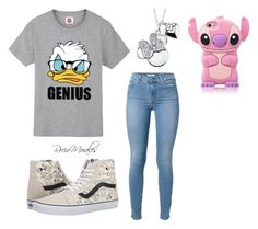 """""""Sin título #310"""" by rocio06morales ❤ liked on Polyvore featuring Disney and Vans"""