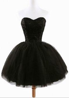 2017 New Women's Black Plain Grenadine Strapless Lace-Up Ball Gown Sweet Tutu Mini Dress