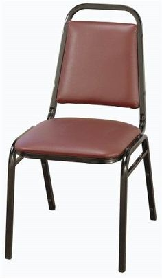 Stacking Chair w 1.5 in. Thick Upholstered Seat - Set of 2 (Textured Mocha-Fabric2 Cashmere), Red