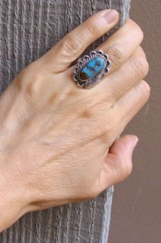 Statement Ring  Bold and Unique  Colourful Ring  Hand Made  Blue Ring Ultramarine Ring  Turquoise Ring  Vibrant  Oversized