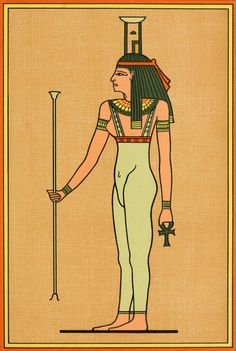 The Gods of the Egyptians The goddess Nebt-Het. Old Egypt, Egyptians, Gothic Art, Goddesses, Gothic Artwork, Ancient Egypt, Goth Art