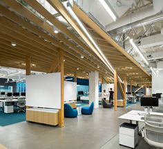 Microsoft Vancouver HQ Office, Canada. The team modified the building's exterior and completely reconfigured the interior.