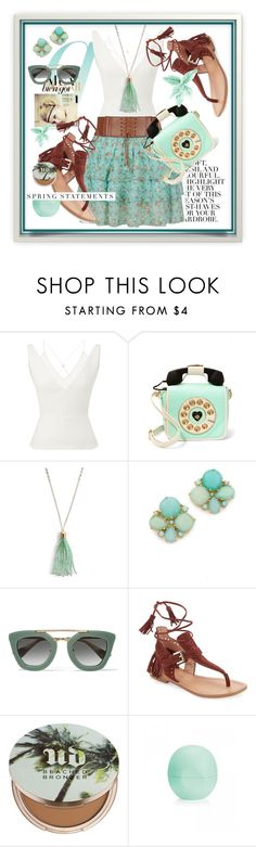 """""""Soft Spring:Mint"""" by wuteringheights ❤ liked on Polyvore featuring Folio, Roland Mouret, Betsey Johnson, Vera Bradley, Kate Spade, Prada, Sigerson Morrison, Urban Decay and Eos"""