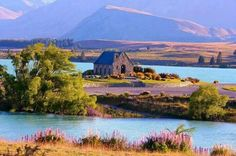 Great Shot of This Old Stone Building. Looks like an Old Church.  Lake Tekapo ~ Mackenzie Basin, New Zealand♥
