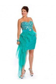 2c8884581b8b1 A-line Sweetheart Sleeveless Short Mini Tulle Plus Size Homecoming Dresses Short  Prom