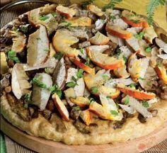 Pizza con tutti i funghi