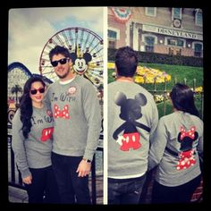 Disney: Mickey & Minnie Couple's Shirts by Michael Steininger, via Behance