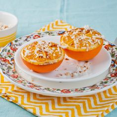 Broiled Oranges with Toasted Coconut | Neighborfoodblog.com