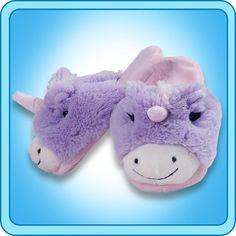 My Pillow Pets Unicorn Slippers Small(Kids) Unicorn Pillow Pet, Pillow Pets, Disney Pajamas, Girls Slip, Kids Slippers, Animal Jam, Magical Unicorn, Birthday List, Pretty Shoes