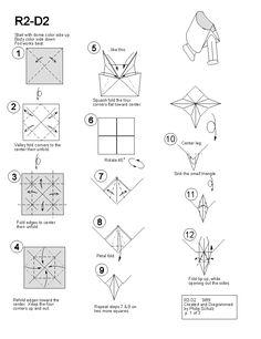 star wars Origami R2D2