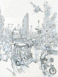 BIG CITY - Kim Jung Gi Please, follow me on twitter too! @kimjunggidirect : https://twitter.com/kimjunggidirect/status/827835204589015040