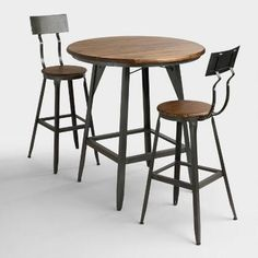 With a smooth white lacquer surface, our round bar-height table is a compact solution for small dining areas. Beech wood legs and metal support accents lend visual detail and mid-century appeal.