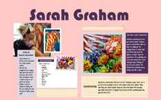 Who is Sarah Graham? Sarah Graham Artist, Artist Research Page, Projects For Kids, Art Projects, Gcse Art Sketchbook, Artists For Kids, Do You Really, Art School, Illusions