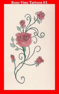 Rose Vine Tattoos 01
