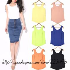 WOMEN fashion chiffon camis candy color top