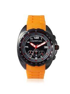 82% OFF Morphic Men's MPH2506 M25 Series Orange/Black Rubber Watch