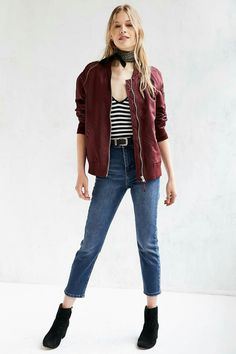 da9283f1c4ca Shop Silence + Noise Rita Shell Bomber Jacket at Urban Outfitters today.