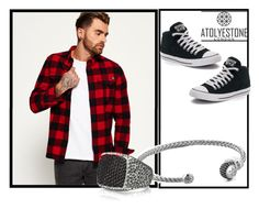 """""""Atolyestone 38"""" by minka-989 ❤ liked on Polyvore featuring Superdry, Converse, men's fashion, menswear and atolyestone"""