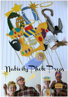 Christmas / Nativity / Three Kings Day Photo Booth Props DIY Printable download pdf  & print (24 piece set)
