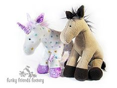 Horse and unicorn sewing pattern