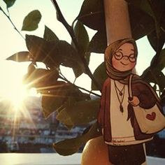 Beautiful Hijab Girl, Hijab Drawing, Islamic Cartoon, Anime Muslim, Hijab Cartoon, Islamic Quotes Wallpaper, Cute Paintings, Teenage Girl Photography, Sweet Pic
