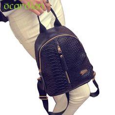 ddb2946fba0 Ocardian Elegance New Hot Women Leather Backpacks Schoolbags Travel  Shoulder Bag Mochila 17Mar03 Dropshipping