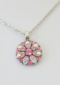 Mariana Guardian Angel Necklace    Pink & Rose Swarovski Crystals #Mariana #Pendant
